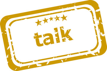 talk stamp isolated on white background