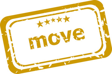 move stamp isolated on white background