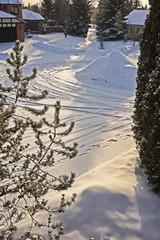 Cal-De-Sac with fresh snow touch