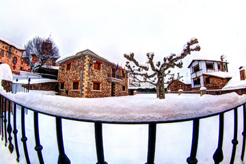 Plaza en Invierno