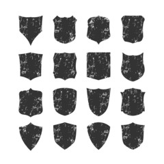 ig set of blank, grunge, classic shields, templates.