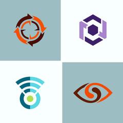 abstract circle logos