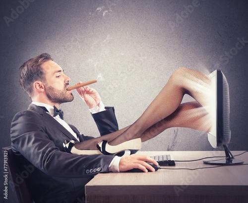 Leinwanddruck Bild Erotic sites