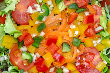Mixed salad background
