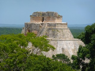 Pyramid at Uxmal in Mexico