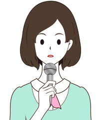女性レポーター 真顔
