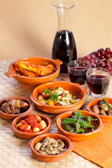 Traditional spanish tapas.