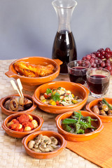 Collection of tapas foods.