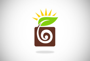 seed and leaf vector