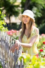 portrait of smiling long-haired girl