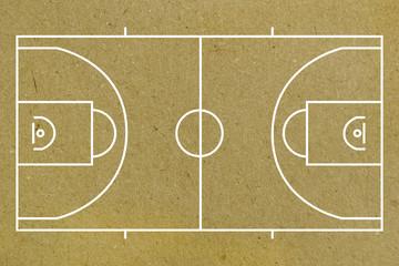 Basketball court layout