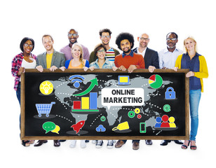 Diversity Casual People Online Marketing Concept