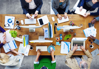 Group Business People Working Office Concept