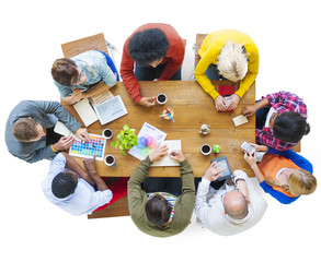 Diverse People Discussing Business Plan Meeting Concept