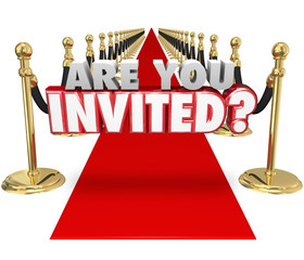Are You Invited 3d Words Red Carpet Exclusive Special Event