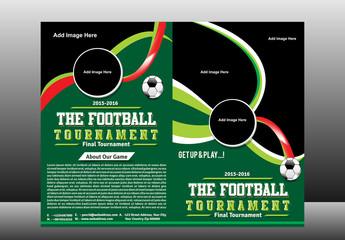 Bi Fold Football Touranment Brochure Template