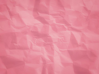 pink crumpled paper