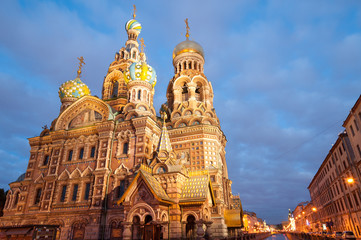 Famous Church on Spilt Blood in St Petersburg, Russia