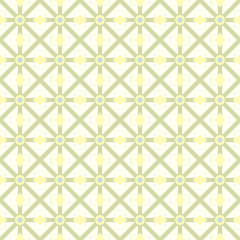 Green Asterisk and Circle and Triangle Seamless Pattern
