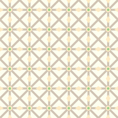 Brown Asterisk and Circle and Triangle Seamless Pattern
