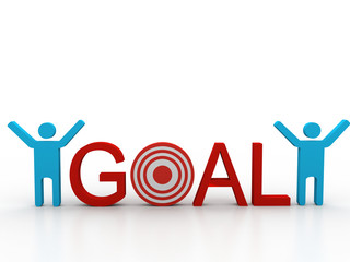Goal with man