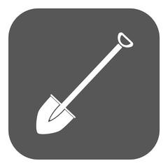 The shovel icon. Spade symbol. Flat