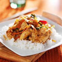 spicy thai panang chicken red curry
