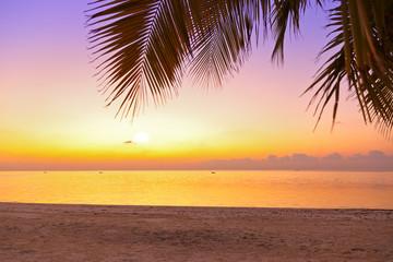 Sunset in Maldives beach