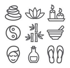 Spa line icons