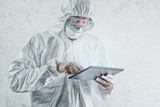 Chemical Scientist Using Digital Tablet Computer