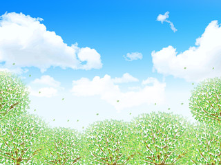 葉 新緑 背景