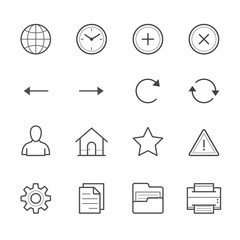 Toolbar Icons for Application and website