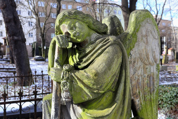 The Angel from the old Prague Cemetery, Czech Republic