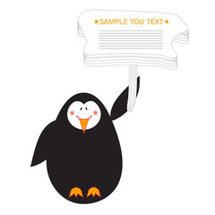penguin banner happy