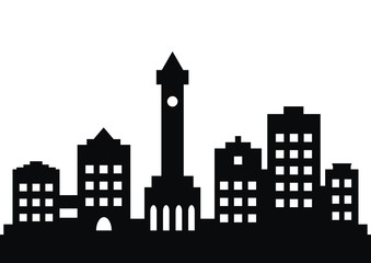 town, black silhouette