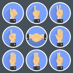 Set hand gesture