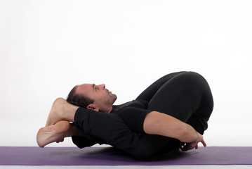 Yoga man isolated