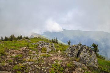 View to peak Midzhur from Bulgaria