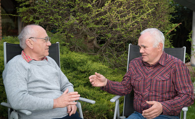 two men discussing