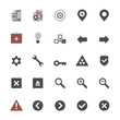Set of multimedia flat design icons 3 - navigation