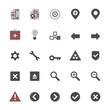 Set of multimedia flat design icons 3 - navigation