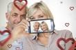 Couple taking Valentines selfie