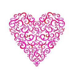 Lace silhouette heart