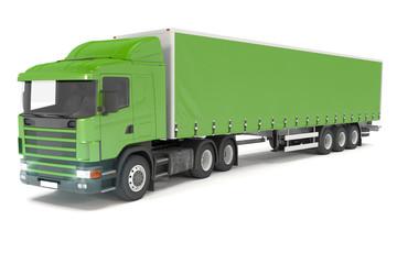 cargo truck - green - shot 17
