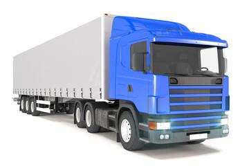 cargo truck - blue - shot 07