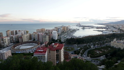 Malaga with Port and Placa de Torros
