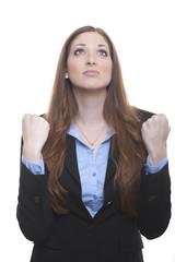 Schade: Frau enttäuscht über Mißerfolg