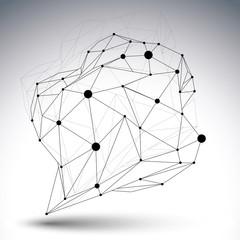 Contemporary techno black and white stylish asymmetric construct