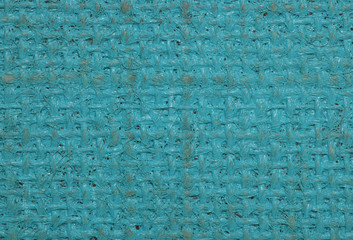 blue painted hessian canvas abstract