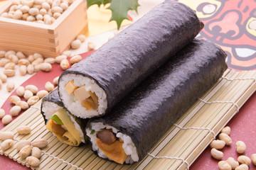 節分の太巻き寿司